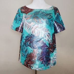 Kate Spade Regal Plumes Feather Top